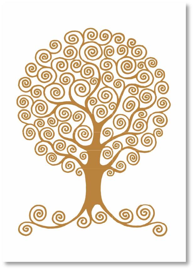 Premium-Klappkarte - Baum der Zärtlichkeit