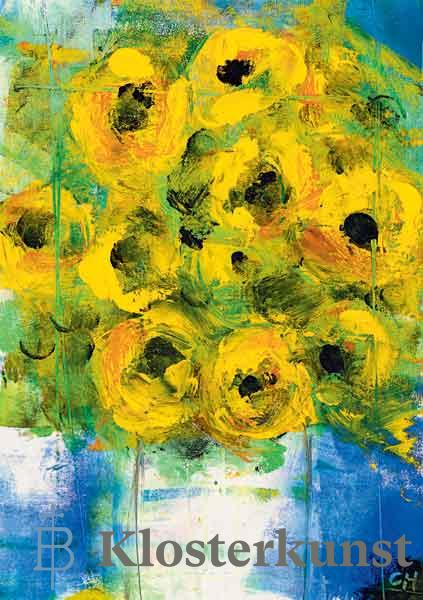 Kunstkarte - Sonnenblumen