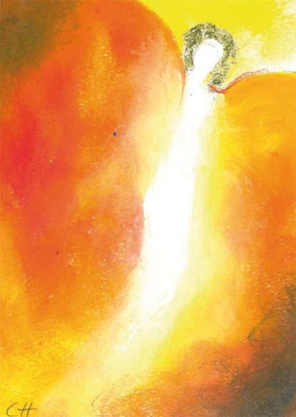 Kunst-Postkarte - Engel des Weggeleits