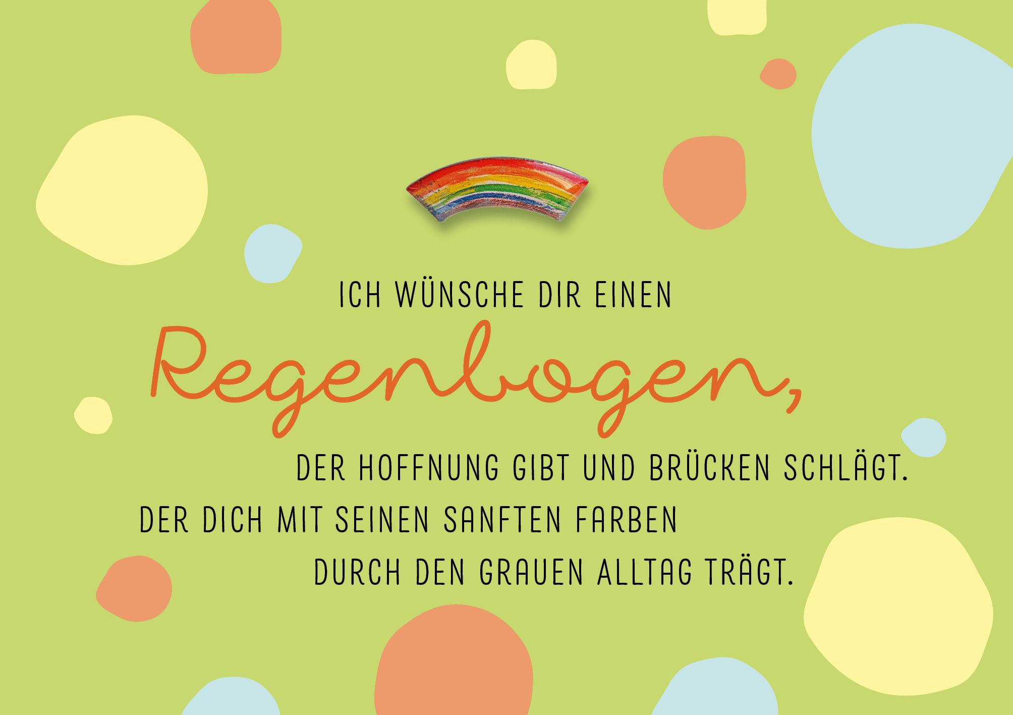 Pin-Cards - Regenbogen der Geborgenheit