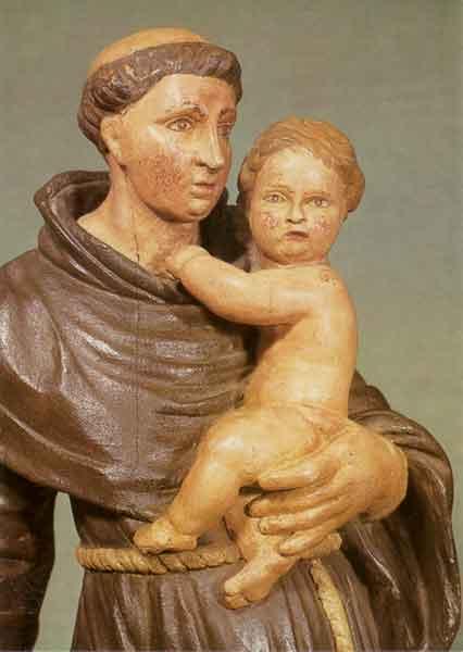 Kunstkarte - Antonius mit Jesuskind