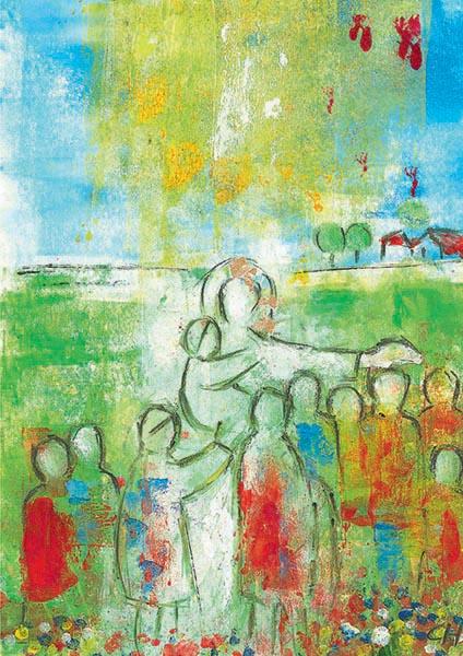 Kunst-Postkarte - Jesus ist unser Freund