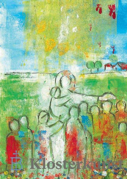 Kunstkarte - Jesus ist unser Freund