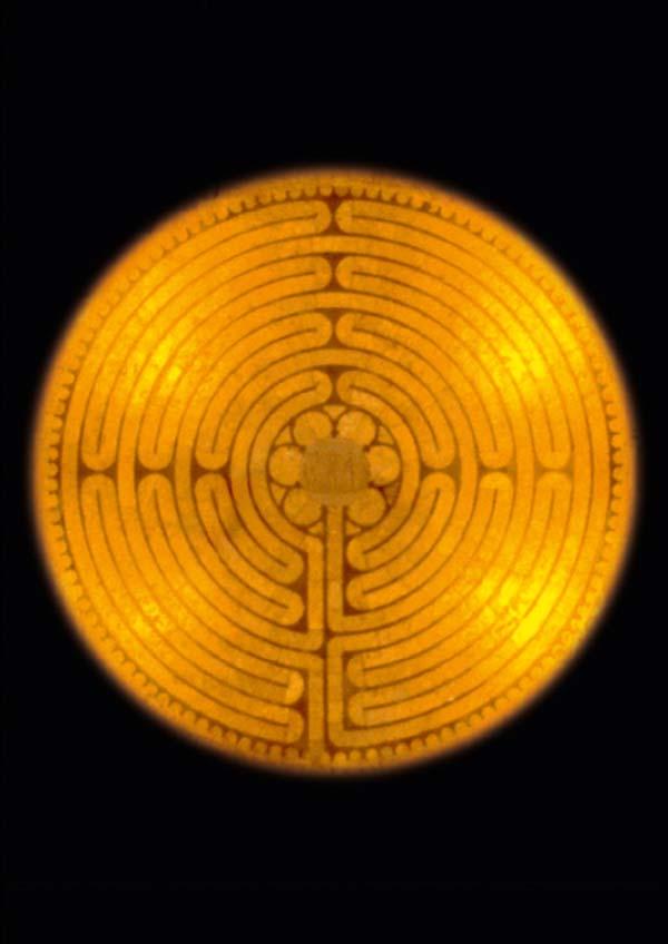 Klappkarte - Das Labyrinth von Chartres