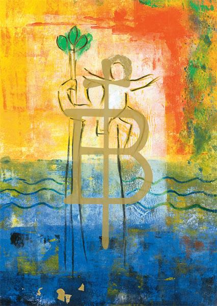 Kunstkarte - Heiliger Christophorus