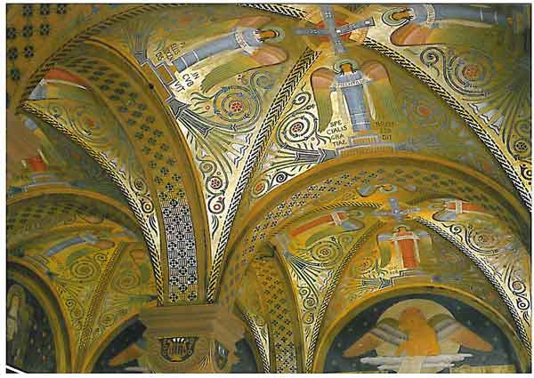 Ausmalung des Gewölbes der Klosterbibliothek
