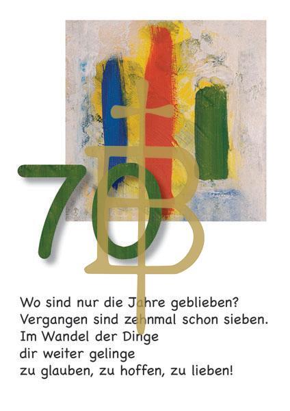 Klappkarte - Runder Geburtstag 70