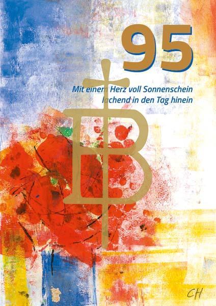 Klappkarte - Runder Geburtstag 95