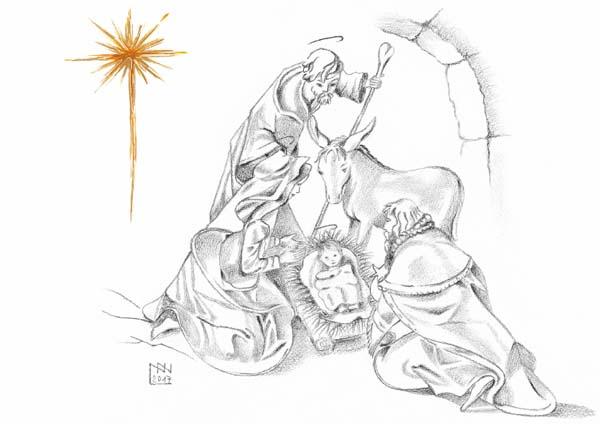 Klappkarte - Segen der Weihnacht