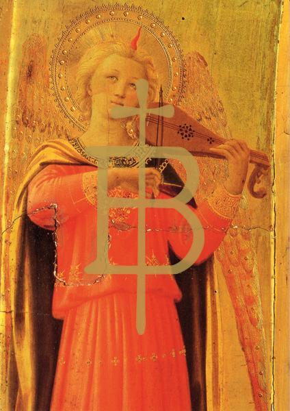 Kunstkarte - Engel mit Birnengeige