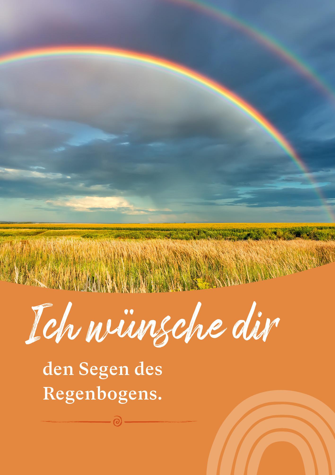 Kunst-Postkarte - Segen des Regenbogens