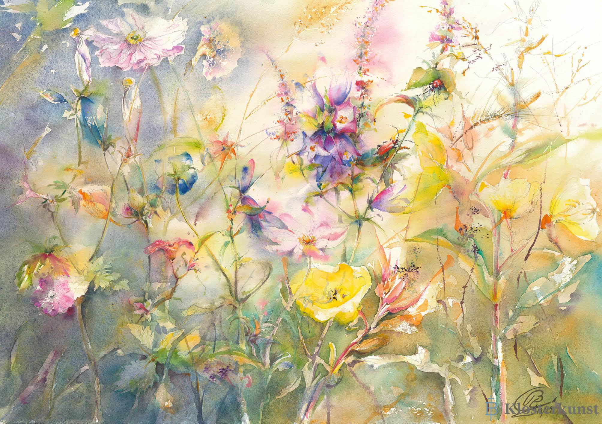 Blumensamen-Karte - Wildblumenwiese