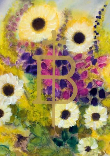 Klappkarte - Blumenarrangement