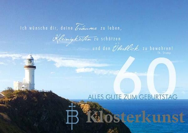Klappkarte - Runder Geburtstag 60