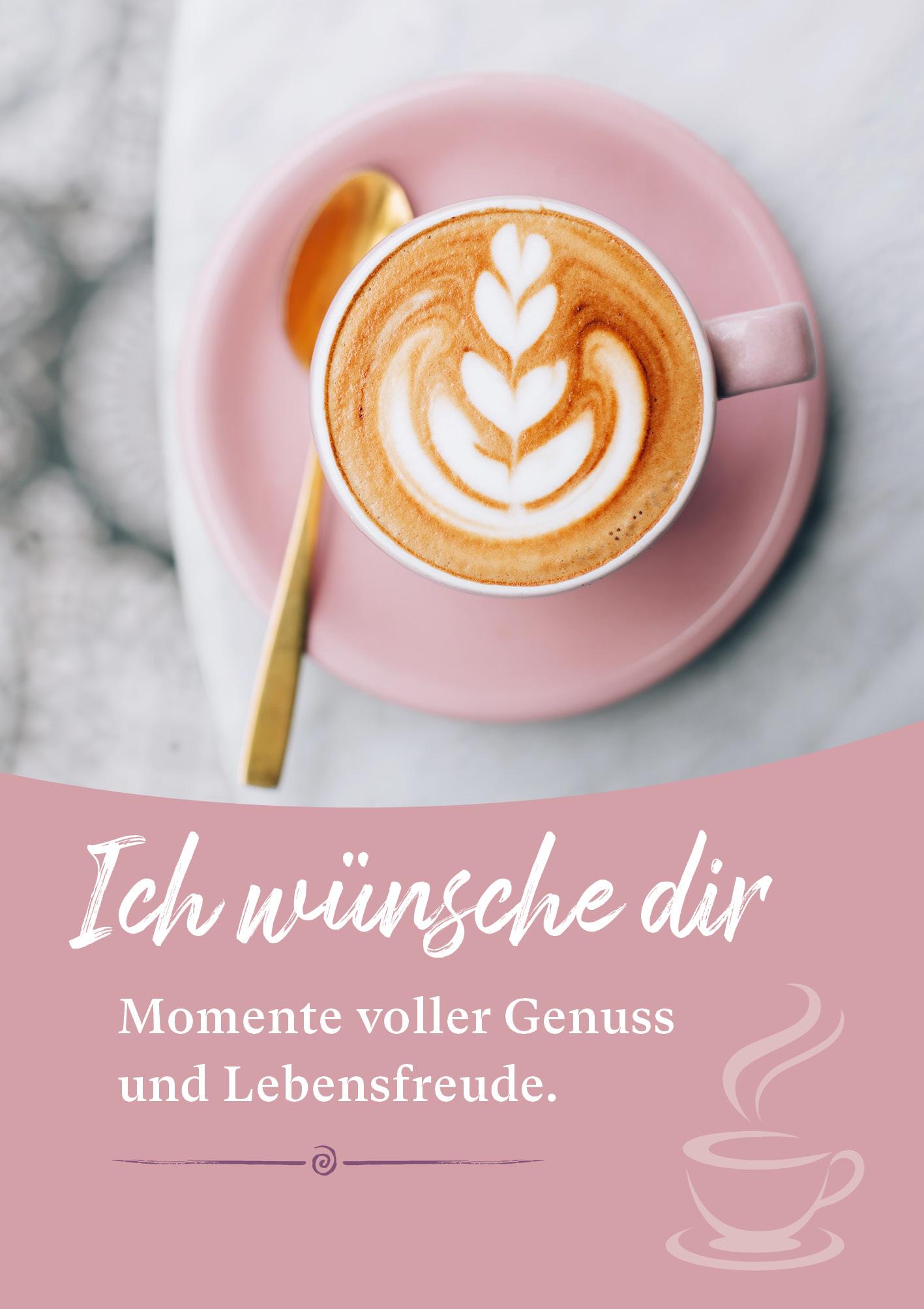 Kunst-Postkarte - Voller Genuss