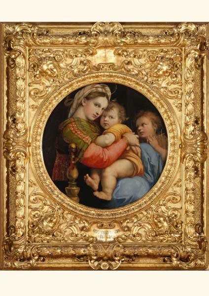 Klappkarte - Madonna mit Kind auf dem Stuhl