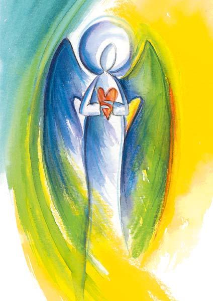 Klappkarte - Engel voller Güte