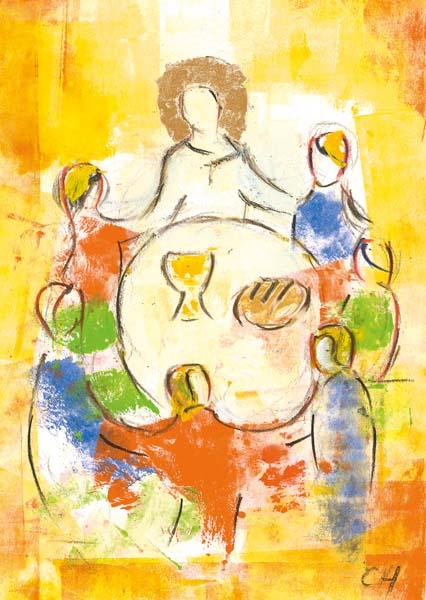 Kunst-Postkarte - Zum Leben eingeladen