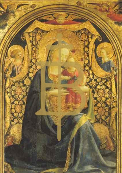 Kunstkarte - Madonna mit Kind