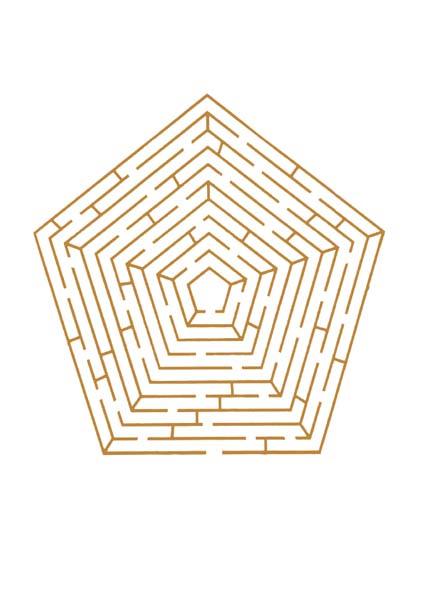 Premium-Kartenbox - Labyrinth - Mein Leben