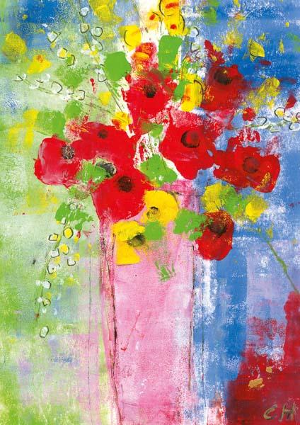 Kunst-Postkarte - Ein Strauß voller Liebe