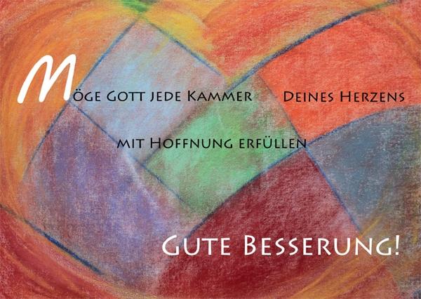 Kunst-Postkarte - Mit Hoffnung erfüllt