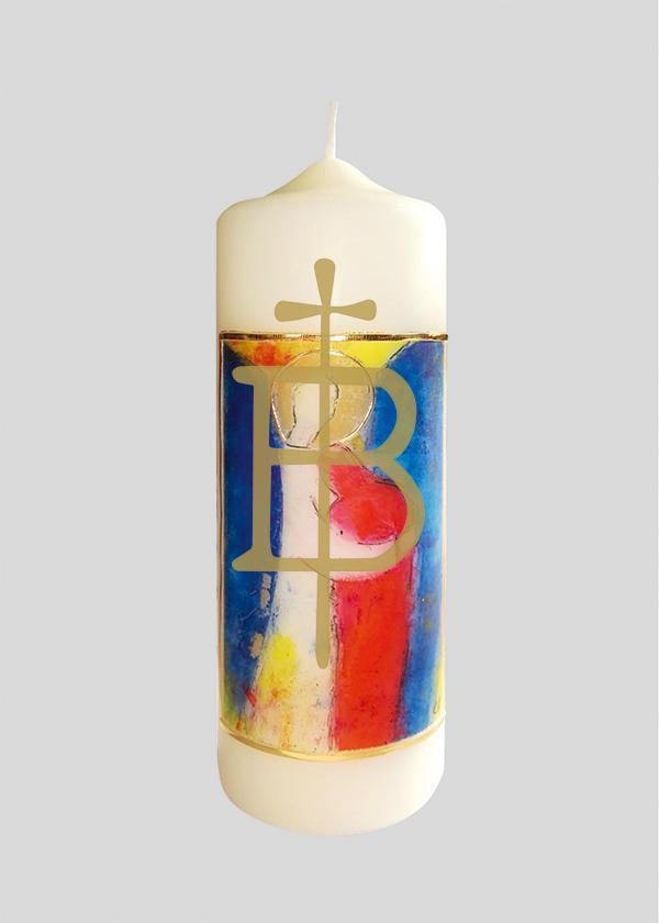 Kerze - Vom Engel beschützt