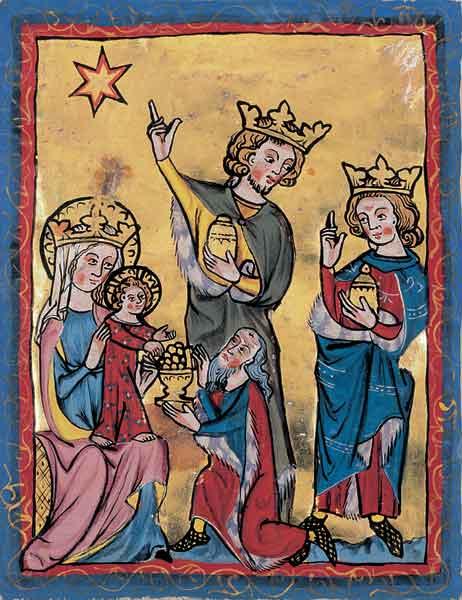 Klappkarte - Anbetung der hl. drei Könige