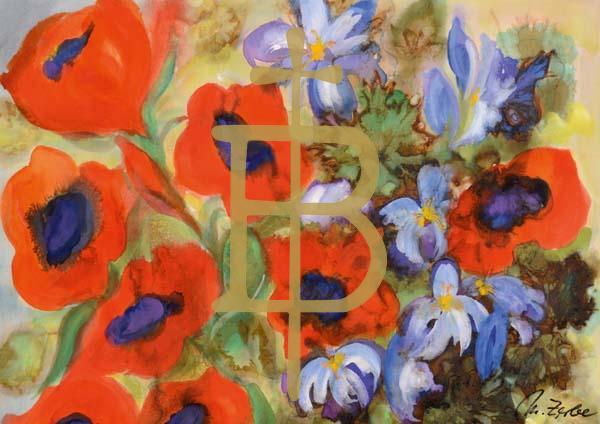 Klappkarte - Blumengrüße für Dich