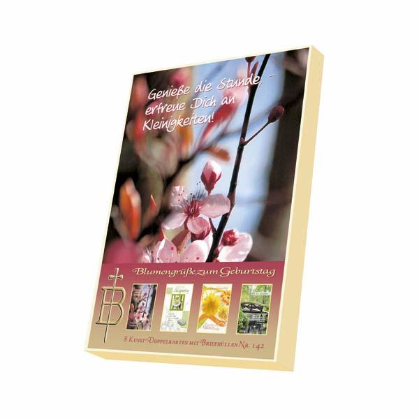 Kartenbox - Blumengrüße zum Geburtstag