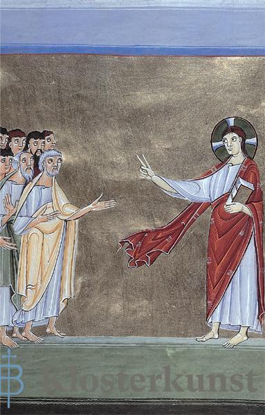 Jesus spricht zu den Jüngern