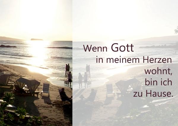 Kunst-Postkarte - Gott im Herzen