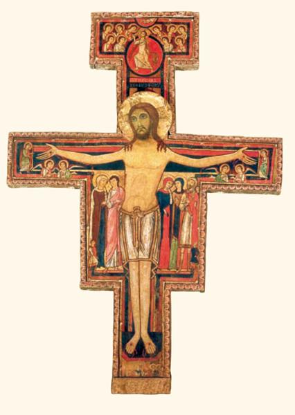 Klappkarte - Kreuz aus San Damiano