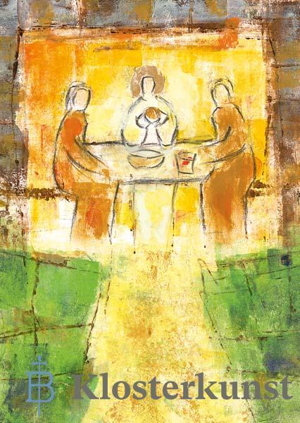 Kunstkarte - Im Brot vereint