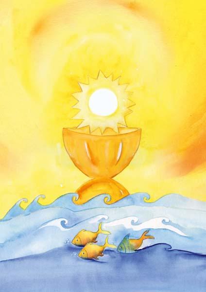 Klappkarte - Jesus - Sonne, Brot und Leben