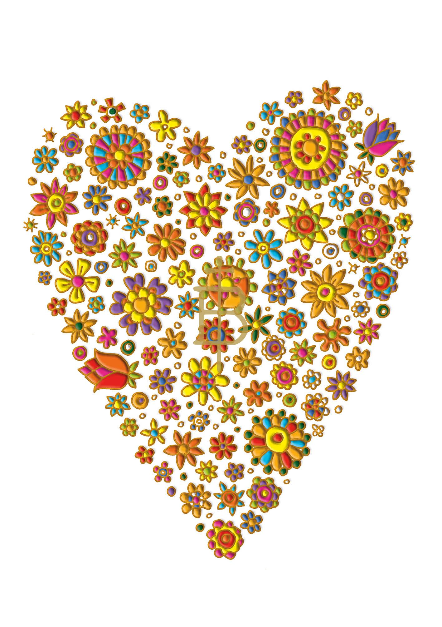 Klappkarte - Im Herzen wurzelt die Liebe