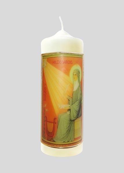 Kerze - Hl. Hildegard von Bingen