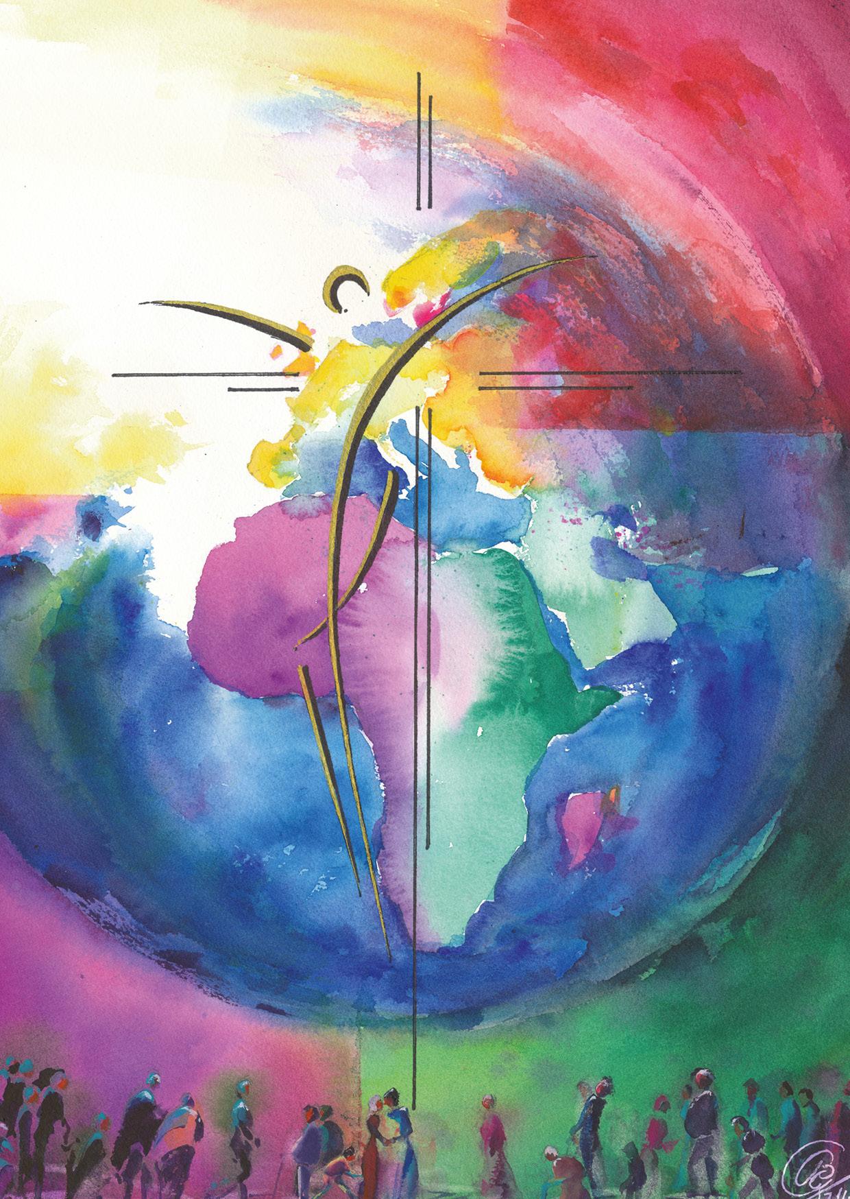 Kunst-Postkarte - Heil für die Welt