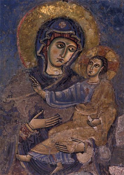 Kunstkarte - Maria mit Kind