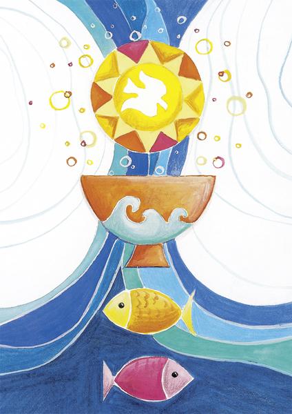 Kunstkarte - Glaubensleiter