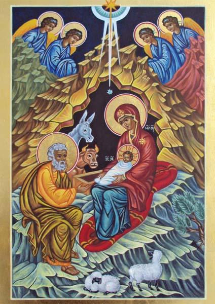 Kunst-Postkarte - Christi Geburt