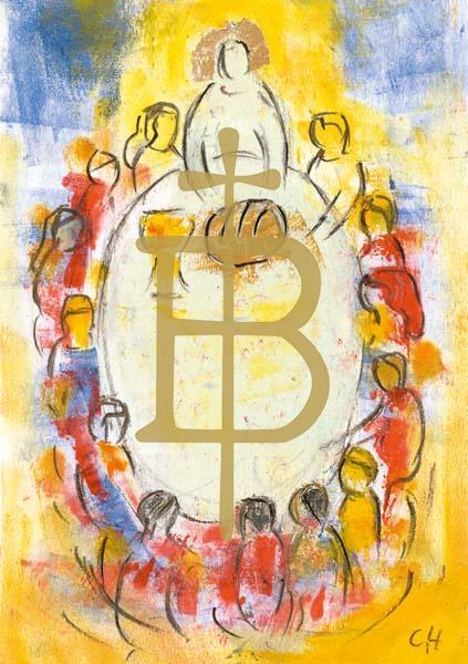 Klappkarte - Der Herr segnet Brot und Leben