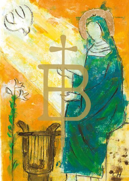 Kunstkarte - Heilige Hildegard von Bingen