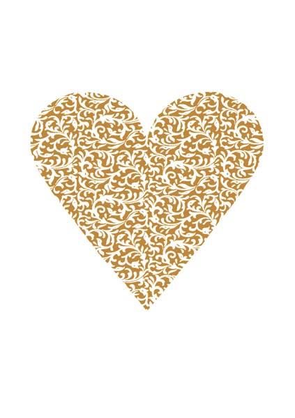 Premium-Klappkarte - Herz der Liebe