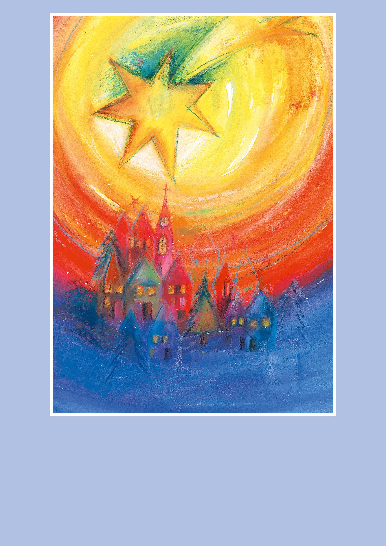 Pfarrbriefmantel - Über uns Frieden und Licht