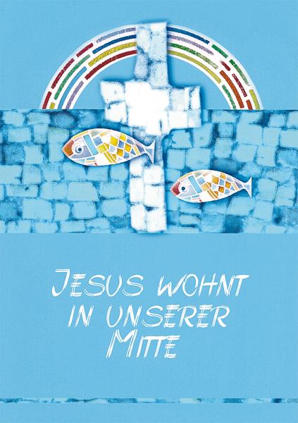 Klappkarte - Jesus ist da
