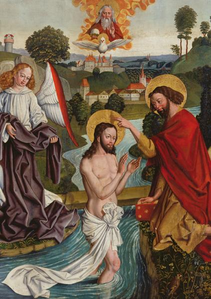 Kunstkarte - Die Taufe Christi