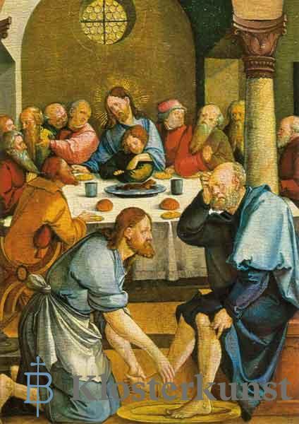 Kunstkarte - Abendmahl und Fußwaschung