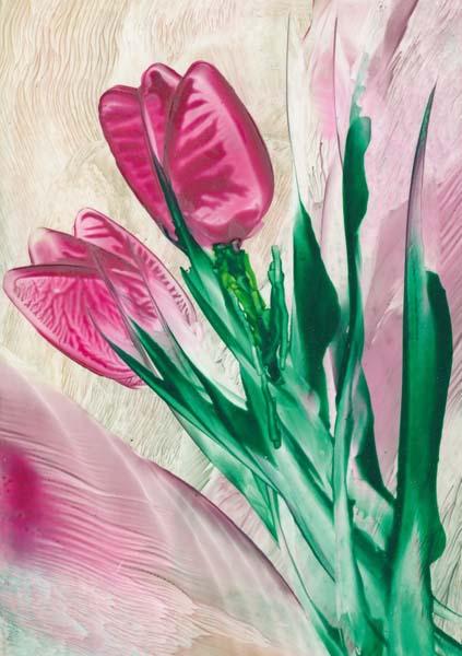 Klappkarte - Freude in Pink