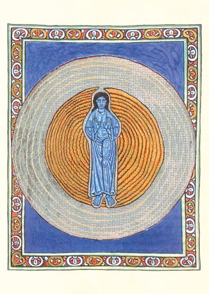 Kunstkarte - Die wahre Dreiheit in der wahren Einheit